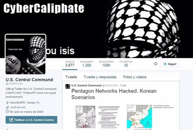 La cuenta del Centcom, hackeada por seguidores de Estado Islámico