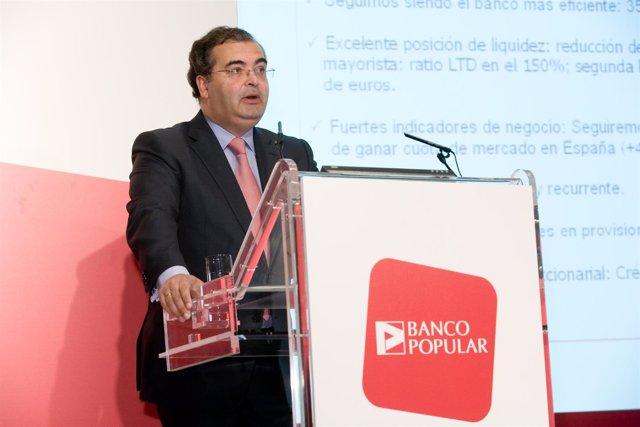 Presidente de Banco Popular, Angel Ron