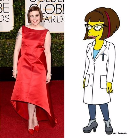 Primer vistazo a Lena Dunham (Girls) en Los Simpson
