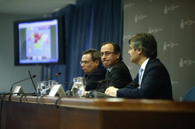 Alfonso Alonso, Rafael Matesanz y Rubén Moreno