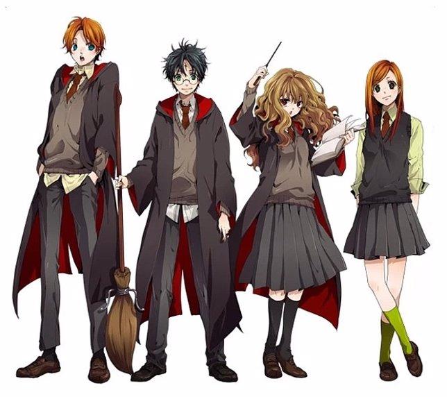 Los personajes de Harry Potter en anime