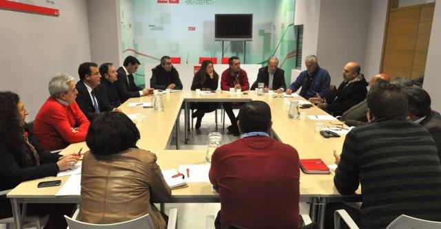 Reunión de dirigentes del PSOE de Sevilla