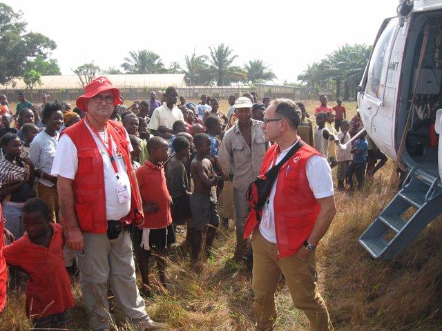 Voluntario valenciano en centro contra el ábola en Sierra Leona