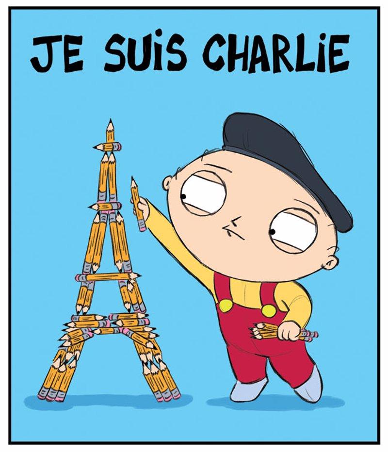 The Walking Dead y Padre de Familia homenajean a Charlie Hebdo