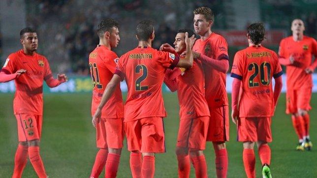 El Barça golea de nuevo al Elche y se cita con el Atleti