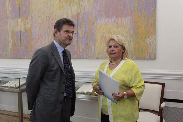 Rafael Catalá y Ángeles Pedraza