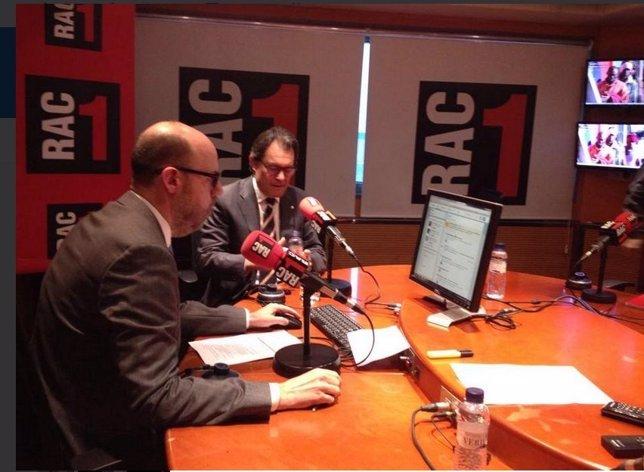 El presidente Artur Mas entrevistado en Rac1