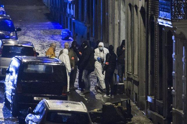 Acutación policial de Bélgica, tiroteo.