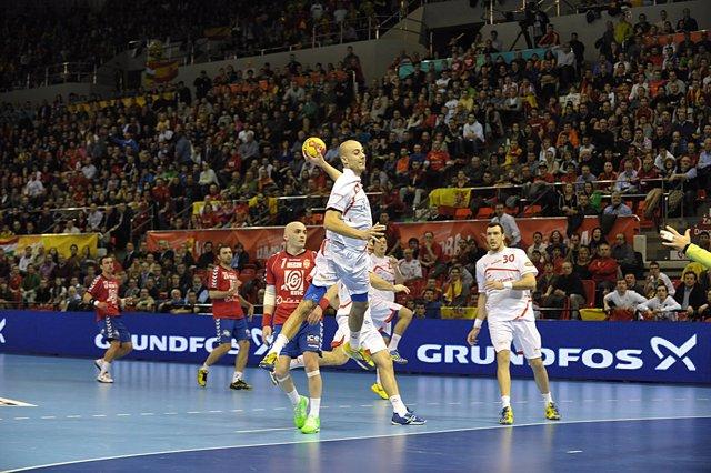 Albert Rocas Serbia España Campeonato del Mundo Balonmano 2013