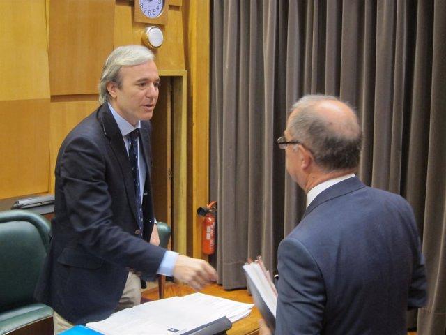 Jprge Azcón y Fernando Gimeno