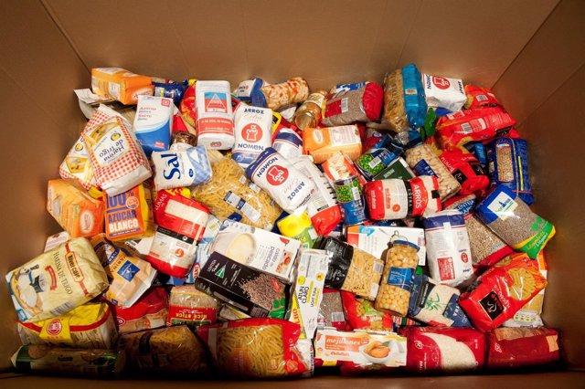 Alimentos donados por Endesa a la Fundación Rosa Oriol