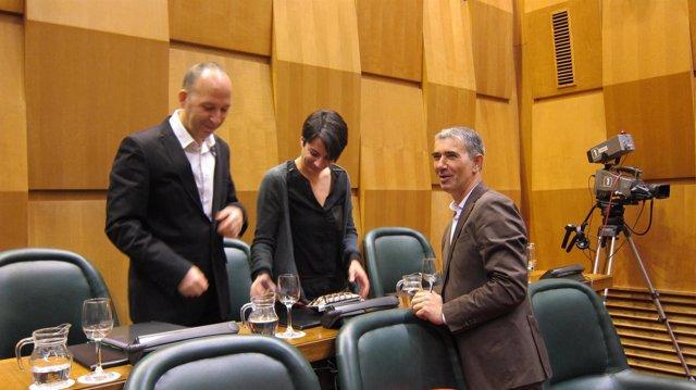 Juan Martín, junto a Carmelo Asensio y Leticia Crespo