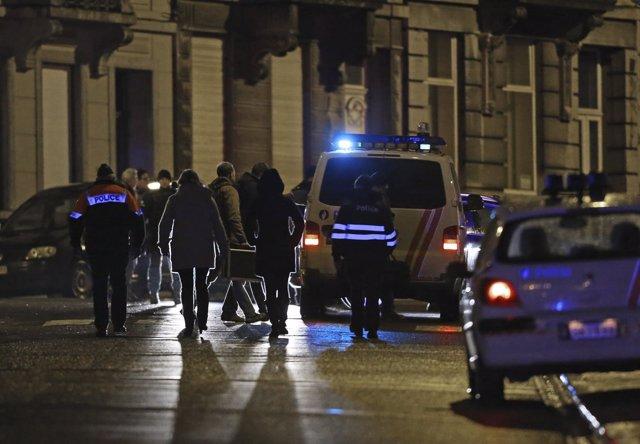 Belgica agentes policiales en Verviers