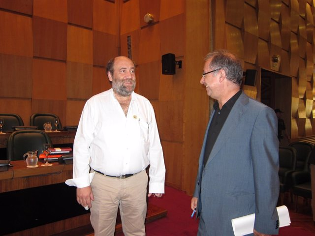 José Manuel Alonso y Fernando Gimeno en el pleno del Ayuntamiento