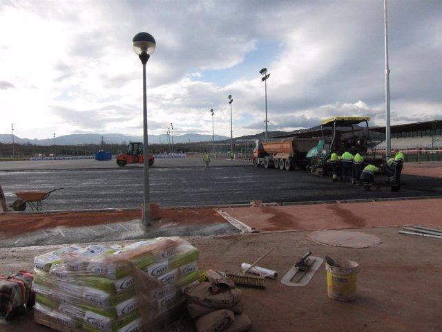 Estado de las obras del nuevo campo de rugby de Pradoviejo