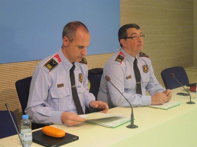 El intendente X.Porcuna y el comisario A.Mariscal