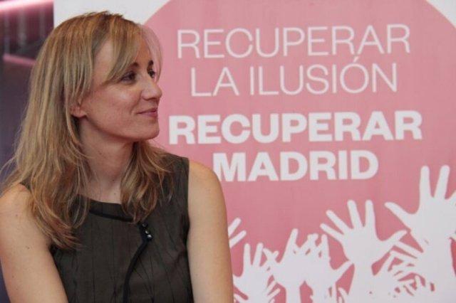 Tania Sánchez, en la presentación de su candidatura de las primarias abiertas