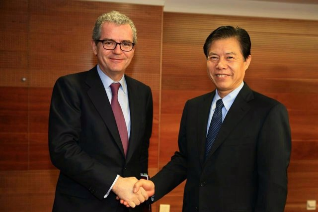 Pablo Isla, de visita en China