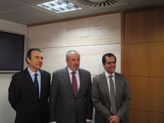 Javier Aparicio, José Ignacio Nieto y Eduardo Mirpuri