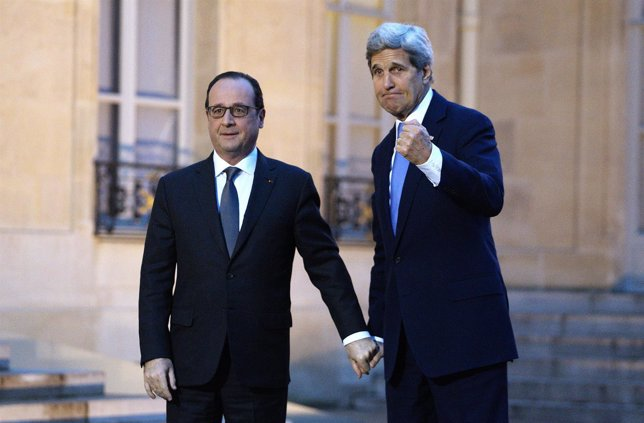 François Hollande y John Kerry