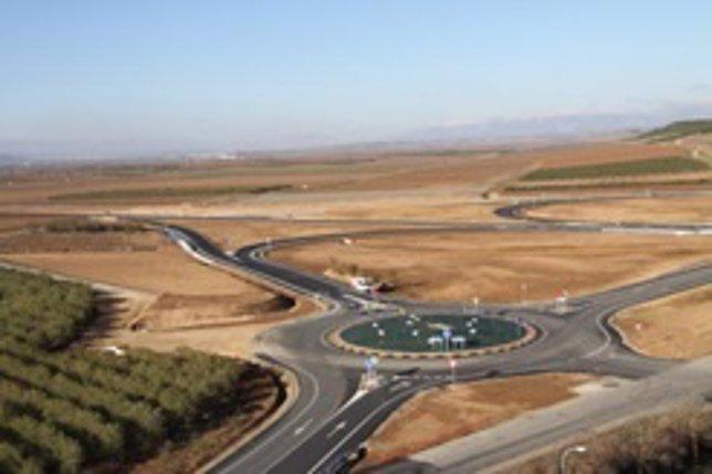Intersección en una carretera convencional.