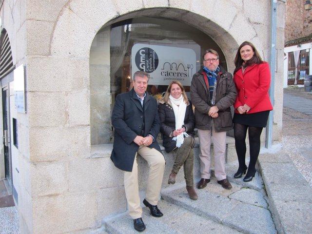 Inauguración de la oficina de Capital Española de la Gastronomía en Cáceres