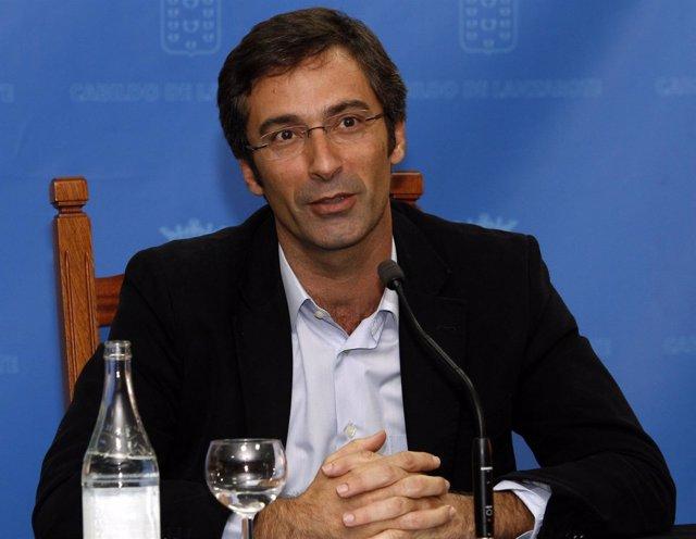 El presidente del Cabildo de Lanzarote, Pedro San Ginés