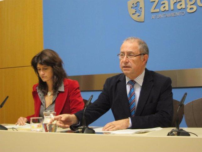 Dueso y Gimeno en su comparecencia tras la reunión del Gobierno de la ciudad