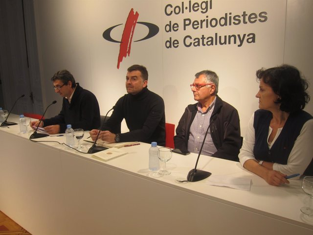 J.L.Centella (PCE), A.Maíllo (IU), P.López (ICV), I.Salud (Ezker Anitza-IU)