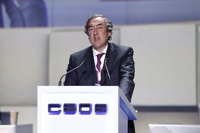 Juan Rosell tras ser reelegido presidente de la CEOE