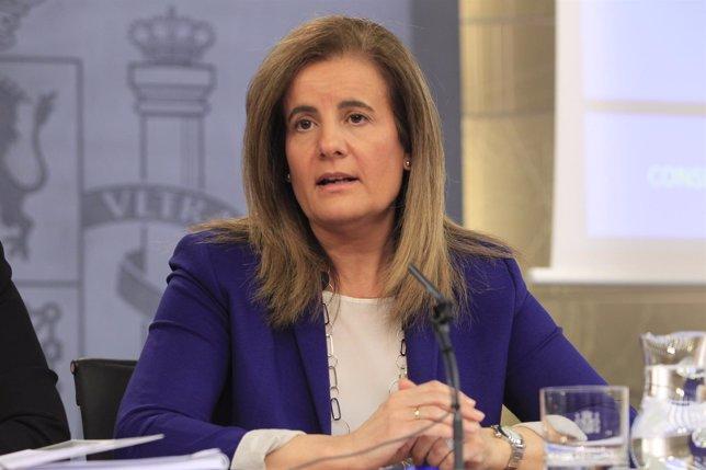Fátima Báñez tras el Consejo de Ministros