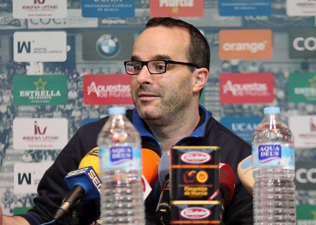 Diego Ocampo, entrenador del UCAM Murica