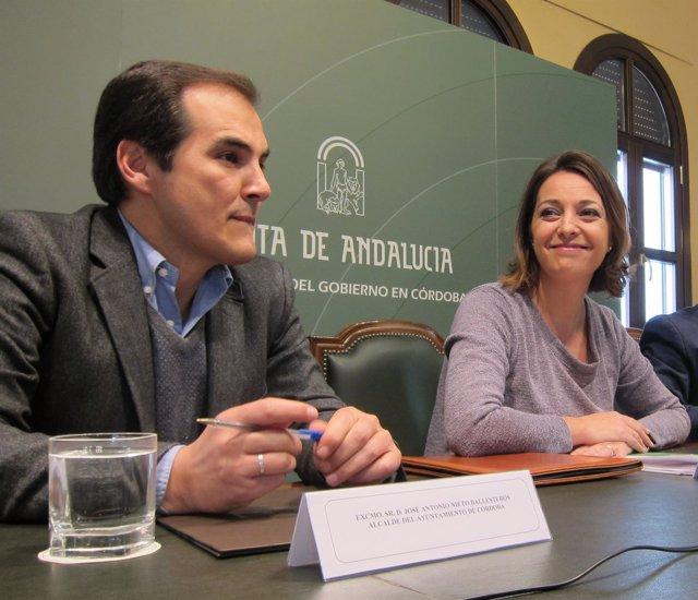 Nieto y Ambrosio en la rueda de prensa