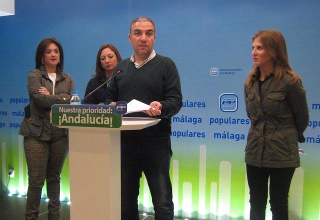 Patricia Navarro, Elías Bendodo y Ana Mestre, del PP-A