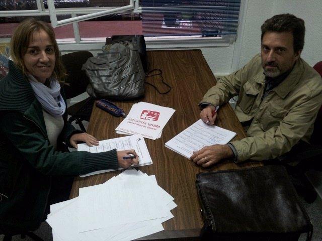 Tania Sánchez y Mauricio Valiente