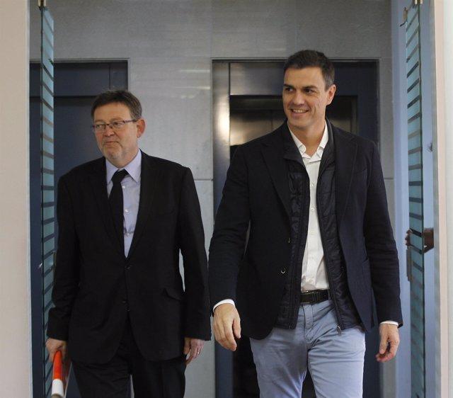 Pedro Sánchez Y Ximo Puig En  Valencia