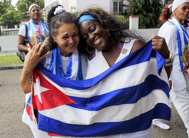 Las disidentes liberadas Haydee Gallardo y Sonia Garro