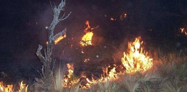 Incendio sierras de Córdoba