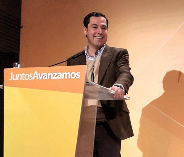 Juanma Moreno, PP-A, en Marbella