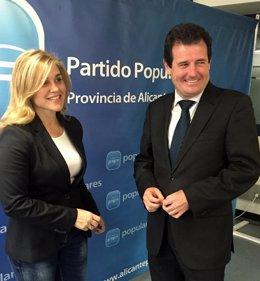 Eva Ortíz y José Císcar