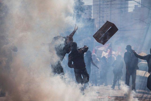 Protestas en Sao Paulo el día que arranca el Mundial