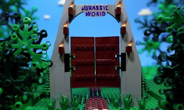 Jurassic World en versión LEGO