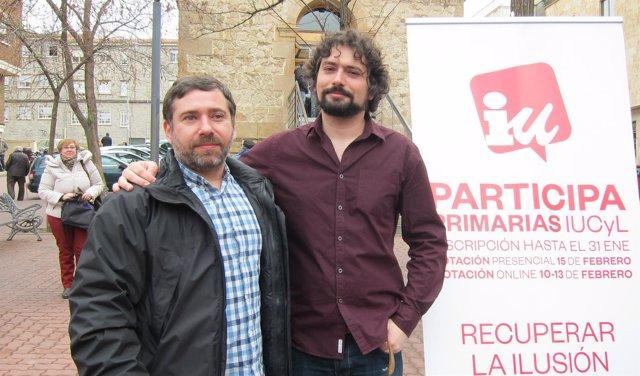 Javier Couso (izquierda), junto a José Sarrión