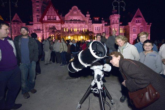 Observación nocturna en Palacio Magdalena