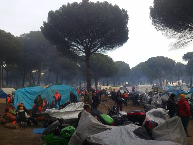 Imagen de la zona de acampada de la concentración motera 'Motauros'
