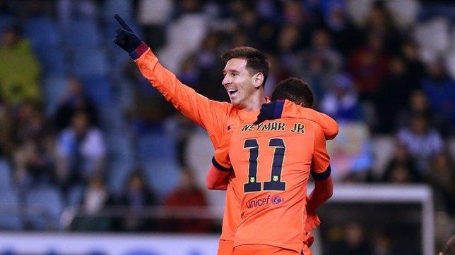 El Barça gana en Riazor con tres goles de Messi