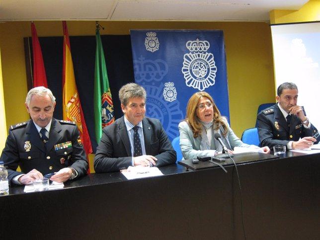 Rodríguez, Cosidó, Alba y Fernández en la rueda de prensa