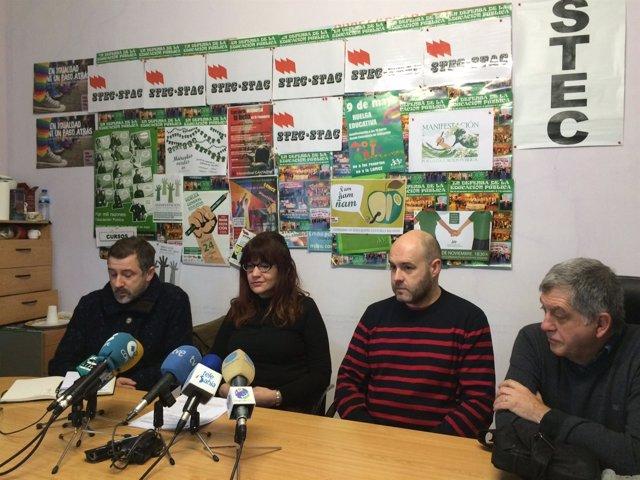 Representantes de los sindicatos de la Junta Personal Docente