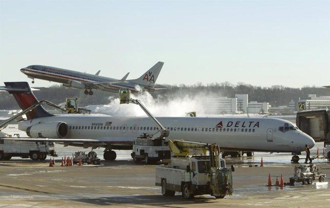 Avión de la compañía Delta Airlines