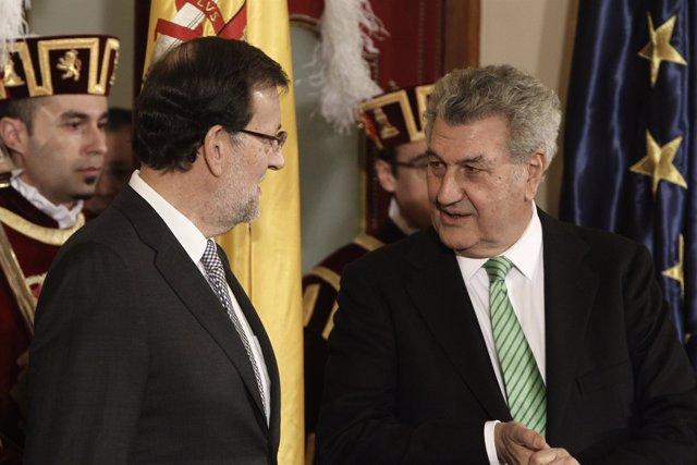 Rajoy y Posada en el Congreso por la Constitución